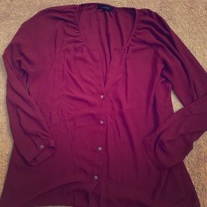 Women's Semi-sheer boutique blouse sz Large